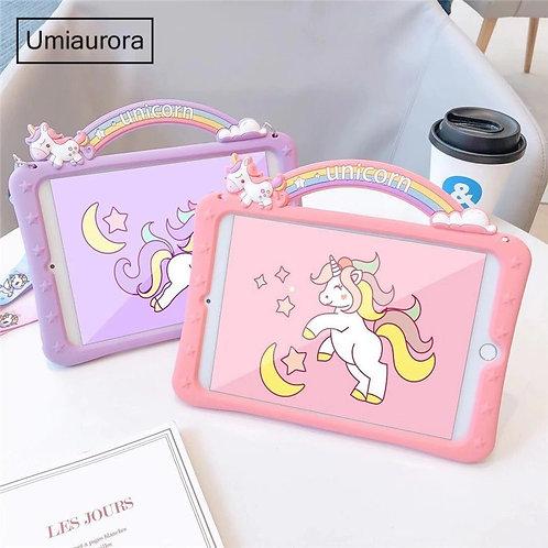 Likable Kids' Stuff | likable.com.au | Kids unicorn iPad Covers with Shoulder Strap | Unicorn iPad Case | iPad Silicone Case