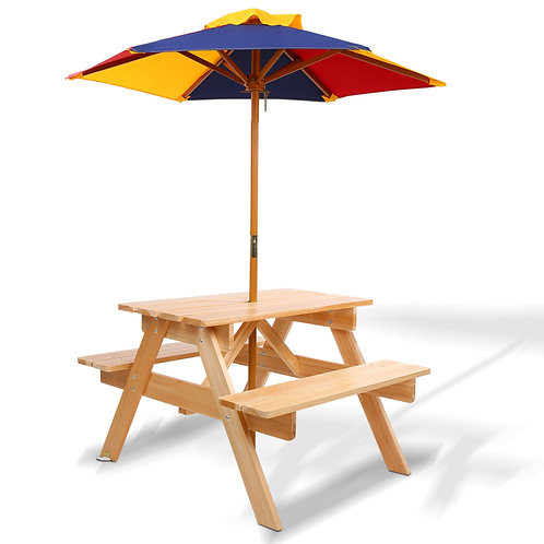 likable.com.au   Likable Children Table & Chairs   Outdoors Children Picnic Table with Sun Umbrella