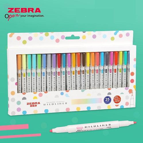Likable Kids' Stuff | likable.com.au | ZEBRA Mildliner 25 double-ended creative marker | Non-toxic double-ended markers