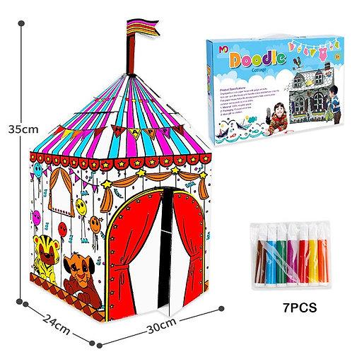 likable.com.au   Likable Arts & Craft   Cardboard Tent Circus Circus