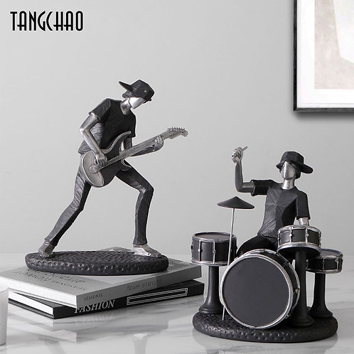 Likable Kids' Stuff | likable.com.au | Monotone Rock Band Ornaments | Rock Band Statue | Roack band decoration