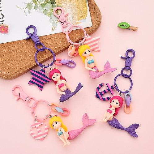 Likable Kids' Stuff | likable.com.au | Little Mermaid Bag Charm | Mermaid Keyring | Gift for girls | Party favour gift
