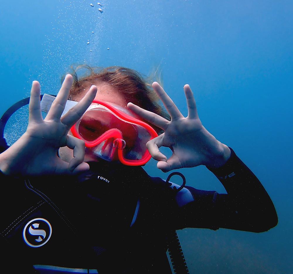 kids scuba diving fun