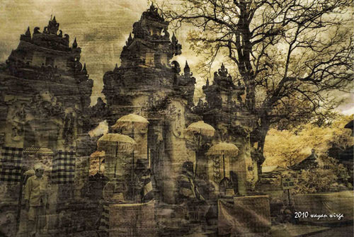 Temple Pura Ped as seen by the artist Wayan Wirga