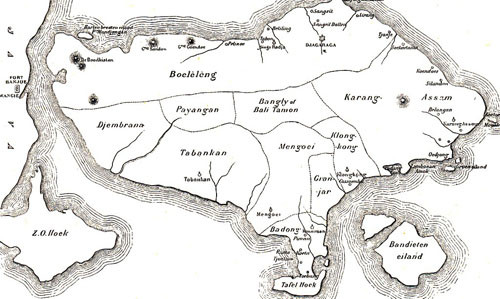 Old map of Nusa Penida