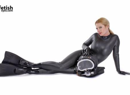 The kink in neoprene:  the wet suit fetish.