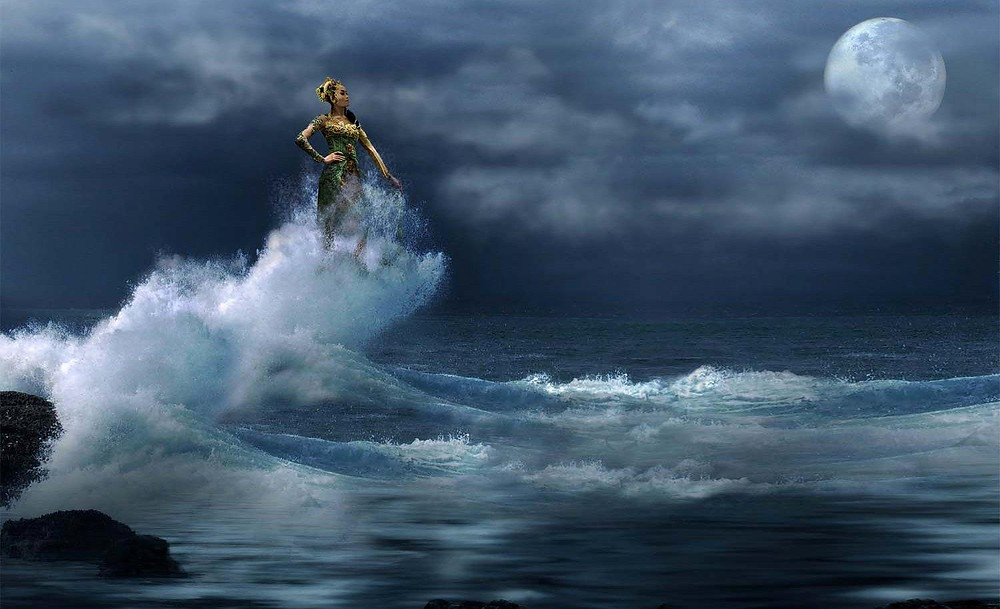 Queen of the southern seas in Indonesian mythology