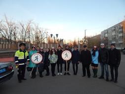 Участие в месячнике по безопасности дорожного движения «Засветись!». 2018