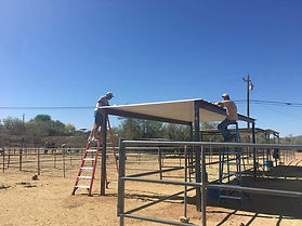 ATHA Volunteers putting up shade