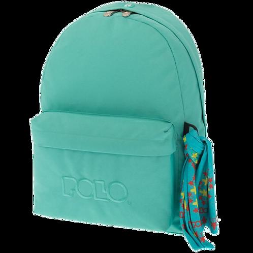 Σχολική τσάντα POLO CLASSIC με Μαντήλι Ανοιχτό πετρόλ