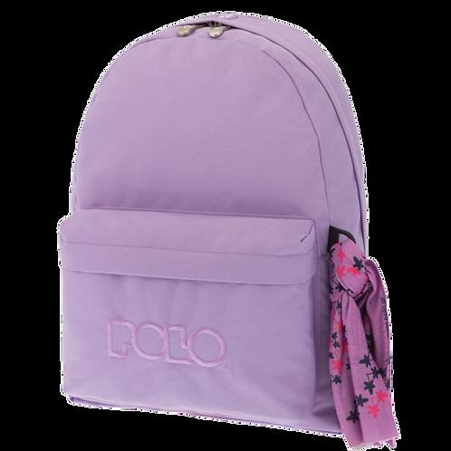 Σχολική τσάντα POLO CLASSIC με Μαντήλι Απαλό μωβ 9-01-135-11 (2018)
