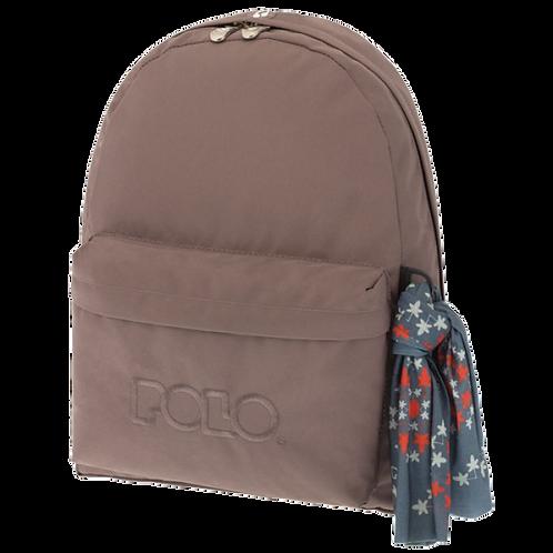 Σχολική τσάντα POLO CLASSIC με Μαντήλι Καφέ 9-01-135-09 (2018)