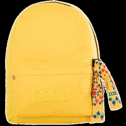 Σχολική τσάντα POLO CLASSIC με Μαντήλι Κίτρινο Ανοικτό