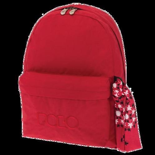 Σχολική τσάντα POLO CLASSIC με Μαντήλι Κόκκινη
