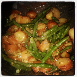 potato + green bean salad