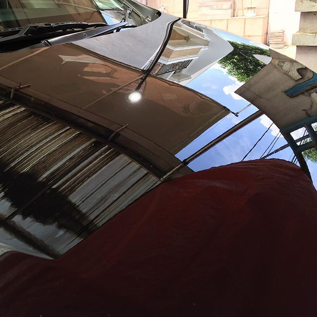 Orange peel removal on Nissan Serena engine hood