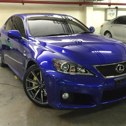 Last weekend job.._Lexus IS F got detailed and protected with ceramic coating