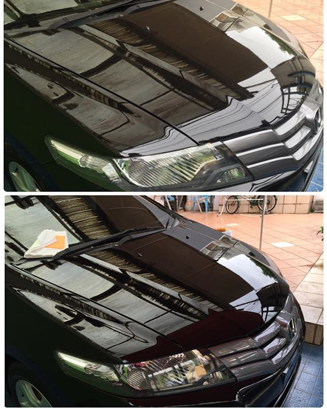 See the difference___#autodetailing #paintprotection #schollconcepts #s3gold #meguiars #m205 #carpro