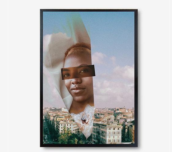 "Collage Digital ""Looking through"" Incluye marco"