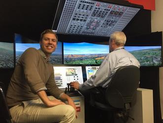 Pilot training flight simulator in Cardington