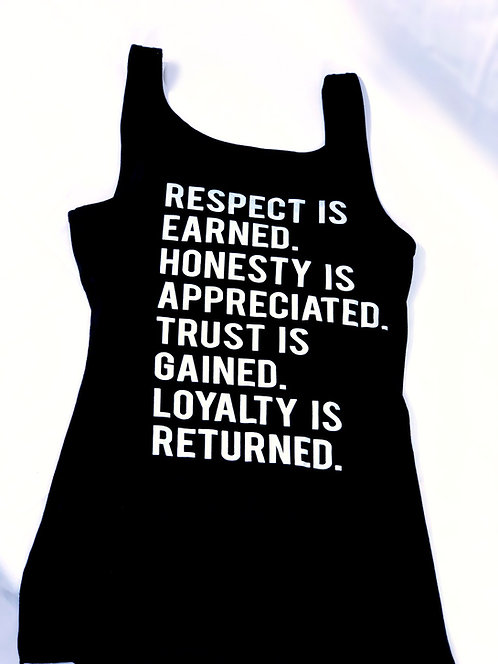 WOMEN'S RESPECT TANK