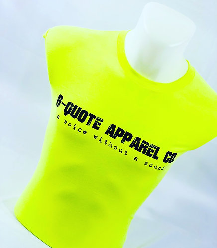 G-Quote Apparel Co. Logo Fitted Tee Neon Yellow