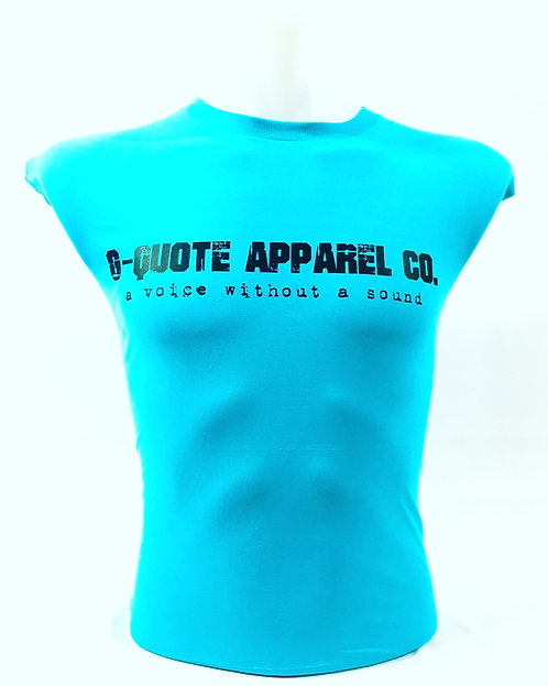 G-Quote Apparel Co. LOGO Fitted Tee Teal