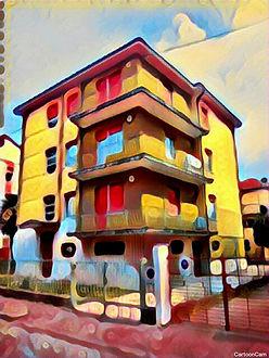 Gardenia Guest House, dipinto edificio completo