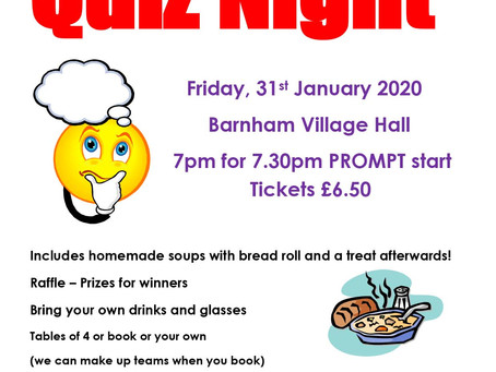 Quiz Night in the Village Hall