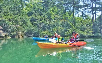 大自然の椛の湖カヤック体験会