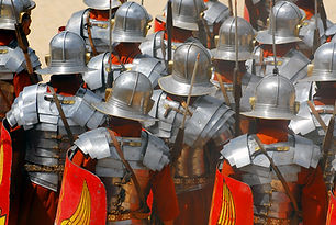 Backside of roman soldiers during Roman