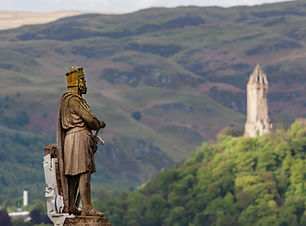 The statue of King Robert I (also known