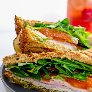 Pesto Ham & Turkey Sandwich