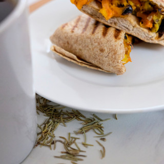 Sweet Potato, Black Bean Wrap