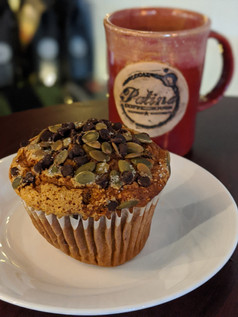 GF Pumpkin Chocolate Chip Muffin & Coffee