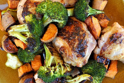 RoastedSheetPanChickenSweetPotatoesandBr