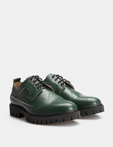 Дербі-туфлі Темно-зелені