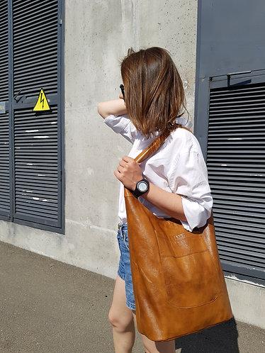 Шкіряна сумка шоппер