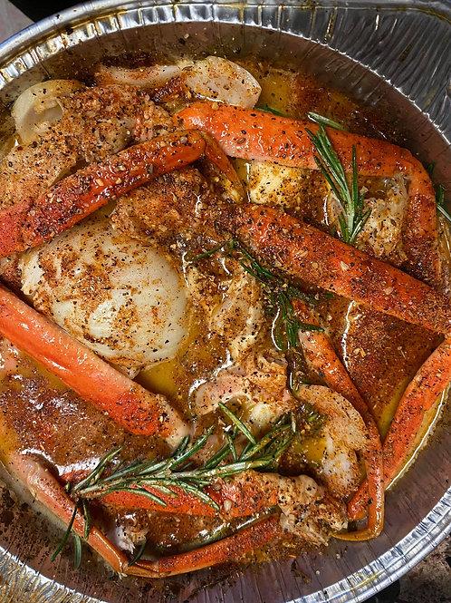 Shrimp & Crableg Pans
