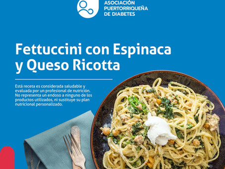 Receta: Fettucini con Espinaca y Queso Ricotta