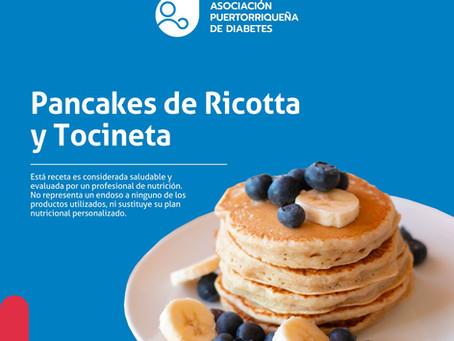 Receta: Pancakes de Ricotta y Tocineta