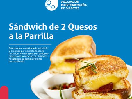 Receta: Sándwich de 2 Quesos a la Parrilla