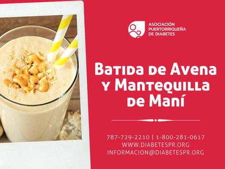 Batida de Avena y Mantequilla de Maní