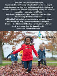 Dyslexia is neurobiological in origin - Poster.png