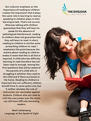 our culture's emphasis on the importance of reading  - Poster.png
