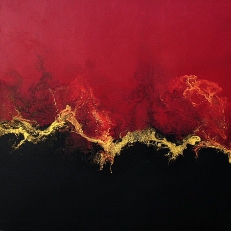 SOLD - Smouldering  36x36