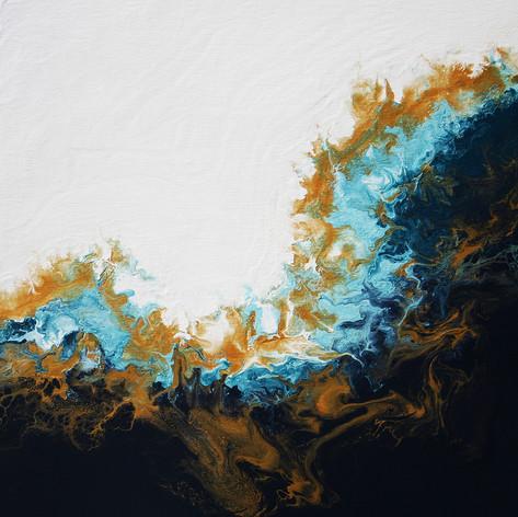 SOLD Crescent Tides  24x24