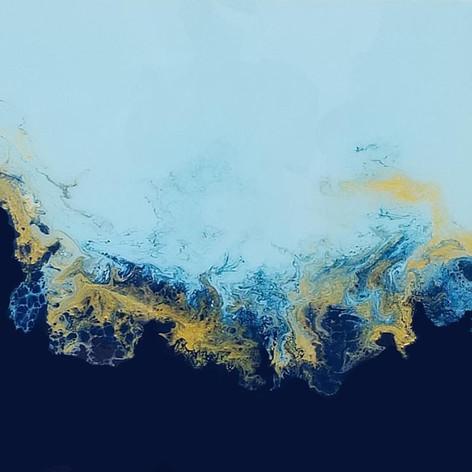 SOLD - Blue Lagoon  24x24