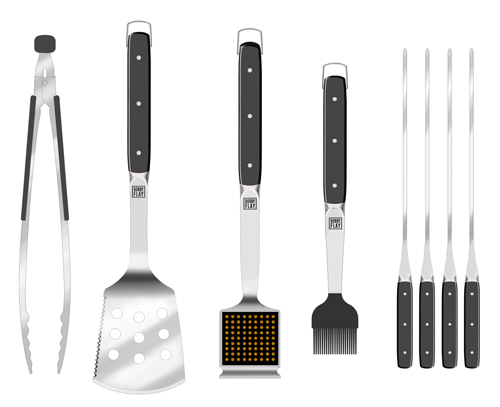 BBQ Tools with Riveted Handles