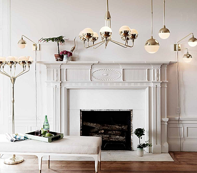 The u0027Orbu0027 Lighting Collection was designed with a Mid Century Modern approach in brass and glass. & finnflora | u0027Orbu0027 Lighting for Anthropologie azcodes.com